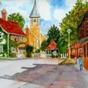 English Village Street Poster