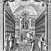 Engraving Of Pharmacy, Geiger, 1651 Poster