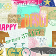 Enjoy Every Moment Collage Poster
