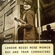 Enjoy Your War Work - London Underground, London Metro - Retro Travel Poster - Vintage Poster Poster