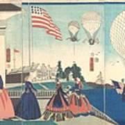 Enjoying Hot Air Balloons Poster