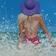 Enjoying The Sea Poster