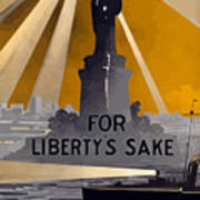 Enlist In The Navy - For Liberty's Sake Poster