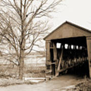 Enochsburg Indiana Covered Bridge Poster
