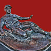 Enos Country Slaughter Statue - Busch Stadium Poster