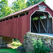 Enslow/turkey Tail Covered Bridge Poster
