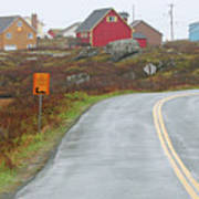 Entering Peggys Cove 6068 Poster