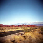 Entering The Valley Of Fire Poster