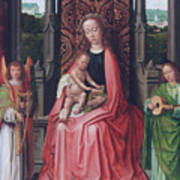 Enthroned Virgin And Child, With Angels Poster