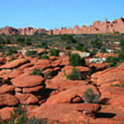Entrada Sandstone Formations - Arches National Park Poster