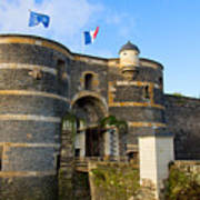 Entrance Gate Of Angers Castle Poster
