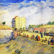 Entrance To Paris With A Horsecar Poster