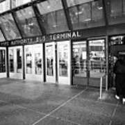 entrance to Port Authority bus terminal New York City USA Poster