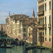 Entrance To The Grand Canal Looking West Poster