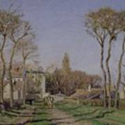 Entrance To The Village Of Voisins Poster by Camille Pissarro