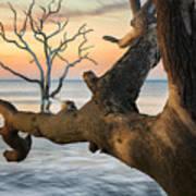 Charleston South Carolina Boneyard Beach Sunrise Scene  Poster