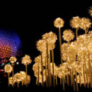 Epcot Christmas Night Poster