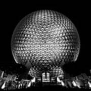 Epcot In Black And White Poster