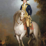 Equestrian Portrait Of George Washington Poster by Rembrandt Peale