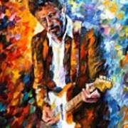 Eric Clapton Poster by Leonid Afremov