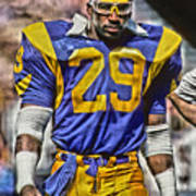 Eric Dickerson Los Angeles Rams Art Poster