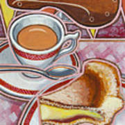 Eroica Britannia And Bakewell Pudding On Pink Poster