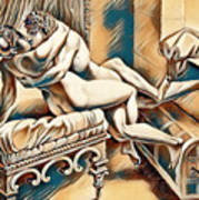 Erotic Abstract Four Poster