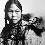 Eskimo Woman And Child Poster