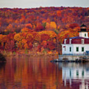 Esopus Lighthouse In Late Fall #1 Poster