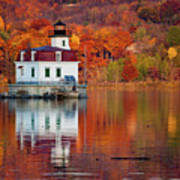 Esopus Lighthouse In Late Fall #2 Poster
