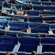 Essaouira Blue Boats Poster