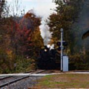 Essex Steam Train Coming Into Fall Colors Poster