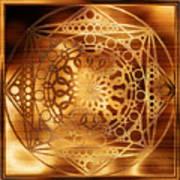 Eternity Mandala Golden Zebrawood Poster
