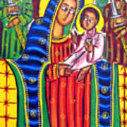 Ethiopian Mary And Jesus Poster