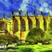 Eton College Chapel Art Poster