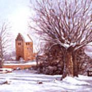 European Winter Scene Poster
