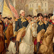 Evacuation Day And Washington's Triumphal Entry In New York City Poster