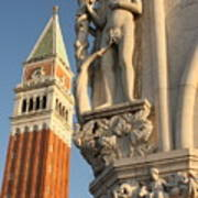 Eve And Bell Tower In Venice At San Marco Poster