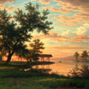 Evening Atmosphere By The Lakeside Poster
