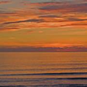 Evening Beach Walk Poster