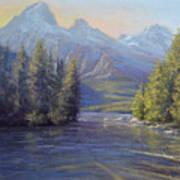 Evening Calm, Taggart Lake Poster