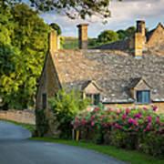 Evening Cottage Poster