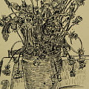 Evening Dandelions Poster