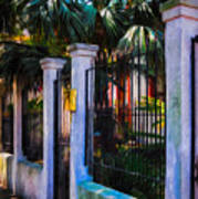 Evening Fence And Gate - Nola Poster