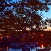Evening Harbor Lights Poster