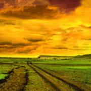 Evening In Masai Mara Poster
