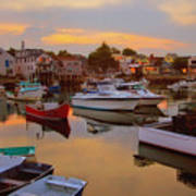 Evening In Rockport Poster