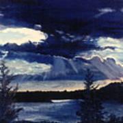 Evening Lake Poster