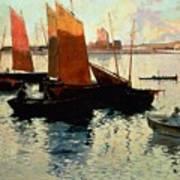 Evening Light At The Port Of Camaret Poster