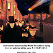 Evening On Karl Johan Street 1892 Poster
